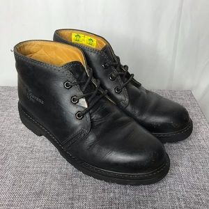 Havana Joe Black Chukka Leather Boots Nice Heavy